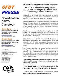 Déclaration CFDT lors du Comité Central d'Entreprise Carrefour du 20 janvier 2011 dans Au magasin cfdt_presse_20_01_2012-235x300